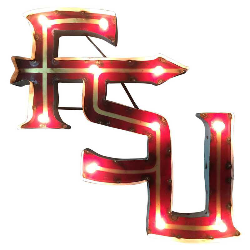FSUWDLGT: FSU Metal Décor w/Lights