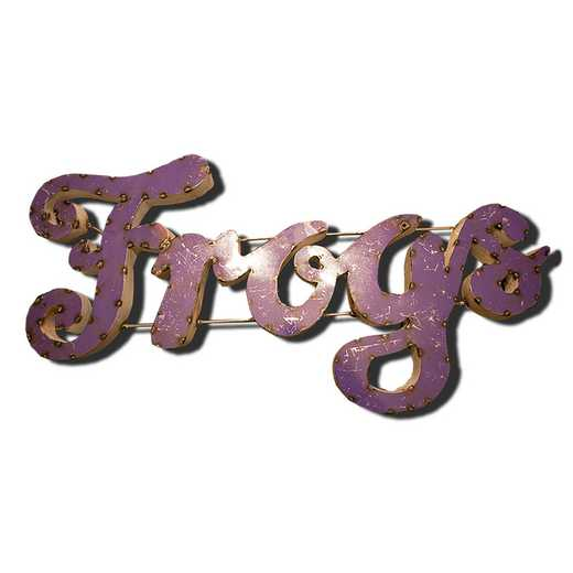 FROGSPRWD: TCU Frogs Metal Décor