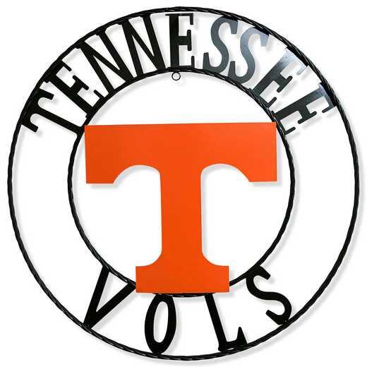 """TNWRI18: Tennessee 18""""  Round Metal Art"""