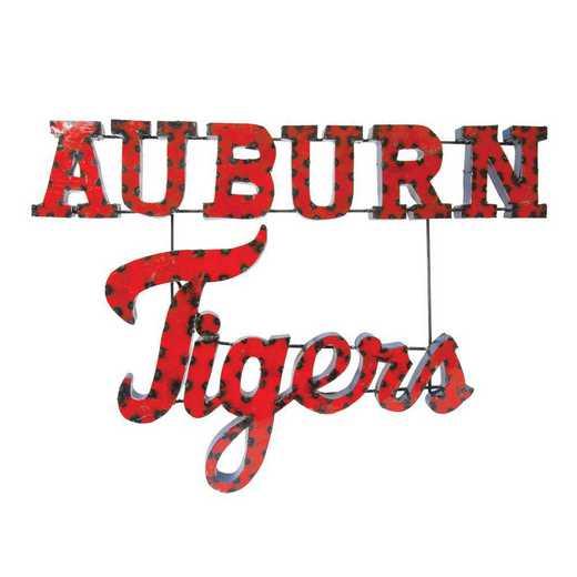 AUBURNTIGERSWD: LRT Auburn Tigers Stacked Metal Décor