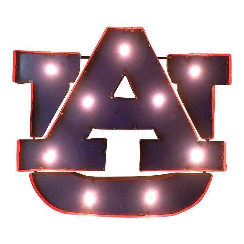 AUWDLGT: LRT Auburn AU Metal Décor Lighted