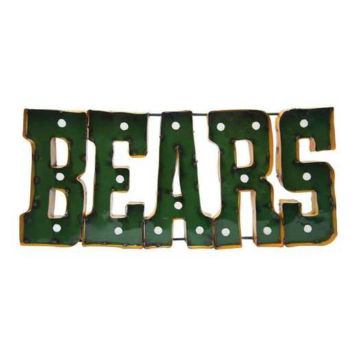BEARSWDLGT: LRT Baylor Bears Metal Décor Lighted
