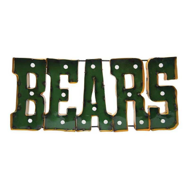 BEARSWDLGT: LRT Baylor Bears Metal Décor Lighted