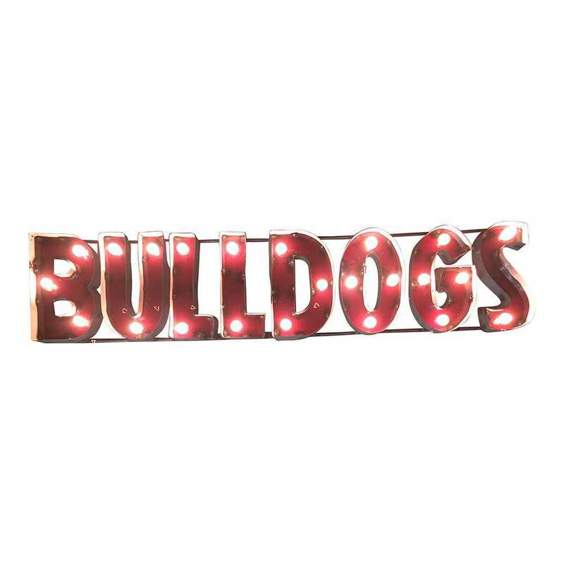 BLDGSWDLGT: LRT MS St Bulldogs Metal Décor Lighted