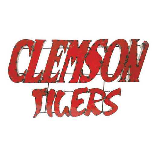 CLEMSONTIGERSWD: LRT Clemson Tigers Stacked Metal Décor