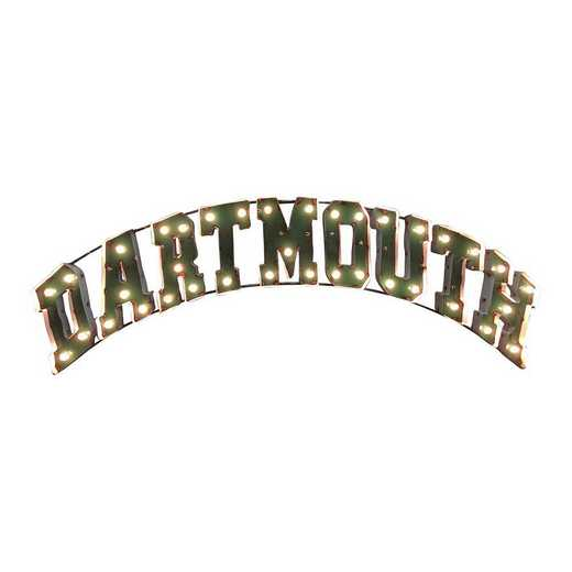 DARTMOUTHWDLGT: Dartmouth recycled metal wall décor
