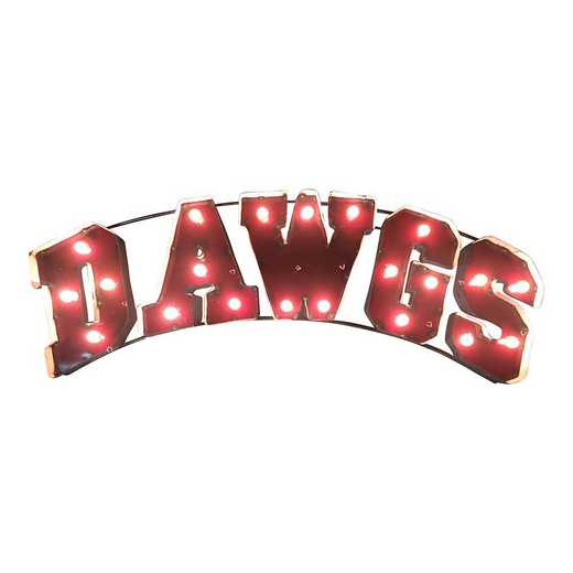 DAWGSMSWDLGT: LRT MS St Dawgs Metal Décor Lighted