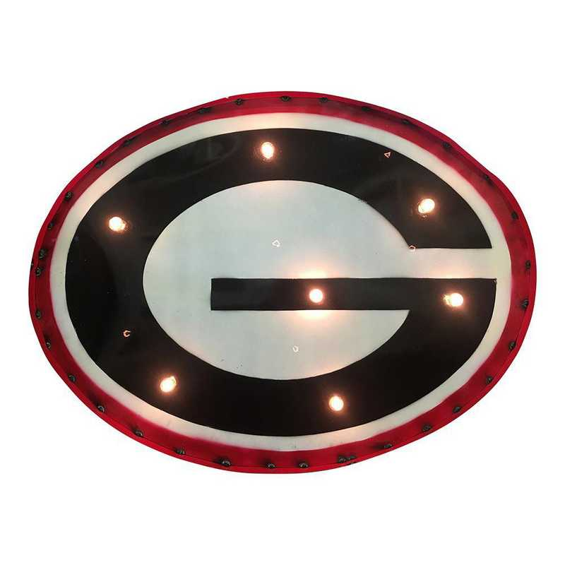 GWDLGT: Georgia recycled metal wall décor Illuminated