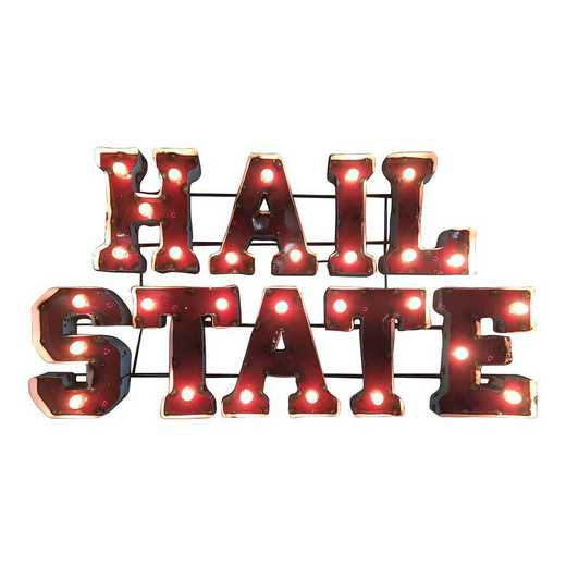HAILSTATEWDLGT: LRT Ms St Hail State Metal Décor Lighted