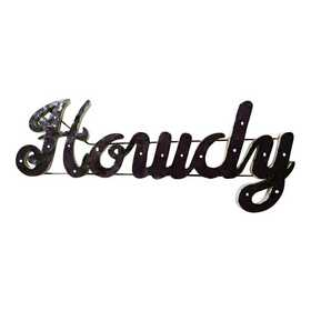 HOWDYWDLGT: LRT TX AM Howdy Metal Décor Lighted