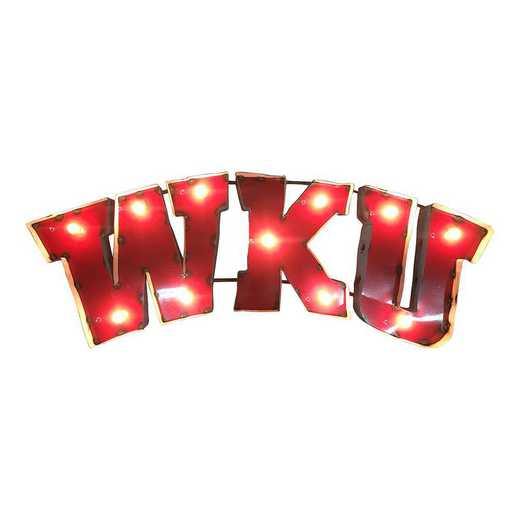 WKUWDLGT: WKU recycled metal wall décor Illumin