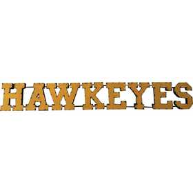HAWKYSWD: LRT Iowa Hawkeyes Metal Décor