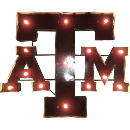 ATMWDLGT: LRT TX AM ATM Metal Décor Lighted