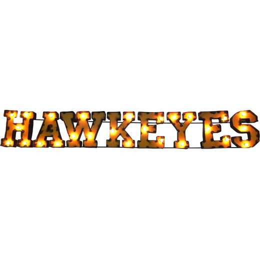 HAWKYSWDLGT: LRT Iowa Hawkeyes Metal Décor Lighted