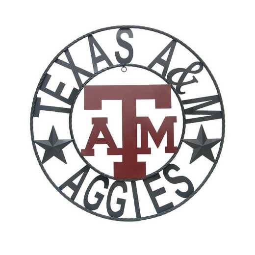A&MWRI24B: LRT Texas A&M wrought iron wall décor 24""