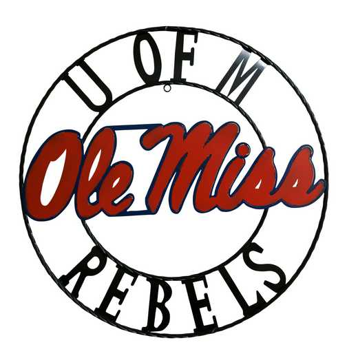 MSWRI24: LRT Ole miss wrought iron wall décor 24""