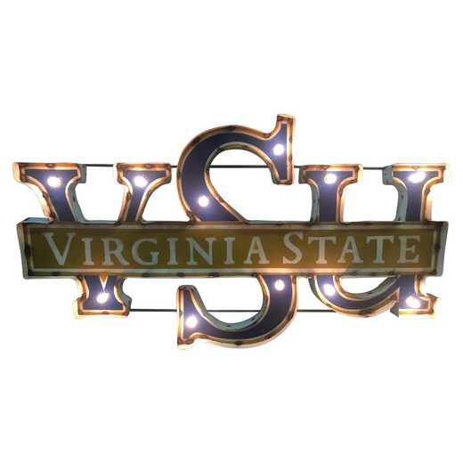 VSUWDLGT: VSU ST recycled metal wall décor Illumin.VIRGINIA STATE UNIVERSITY