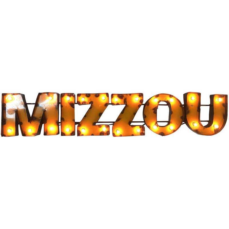 MIZZOUYWDLGT: LRT MO Mizzou Yellow Metal Décor Lighted