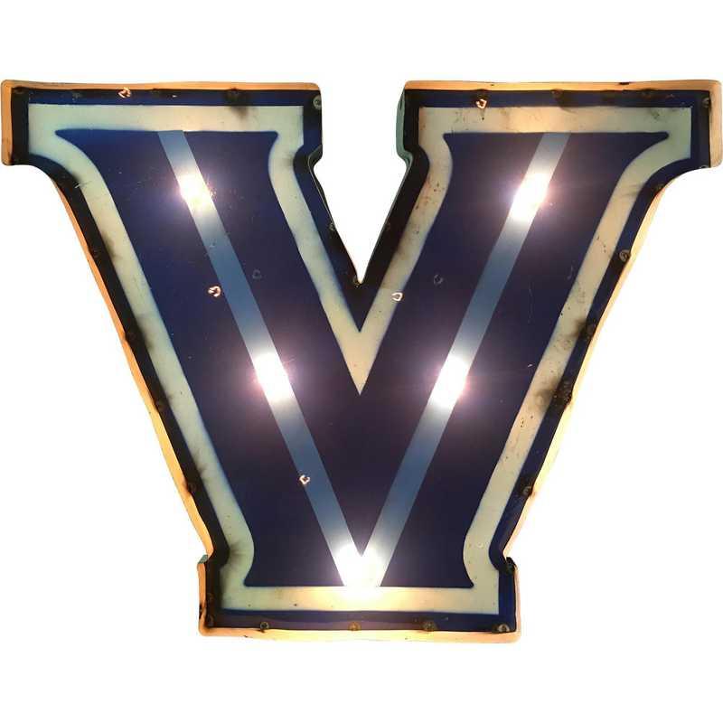 VWDLGT: Villanova V recycled metal wall décor Illuminated