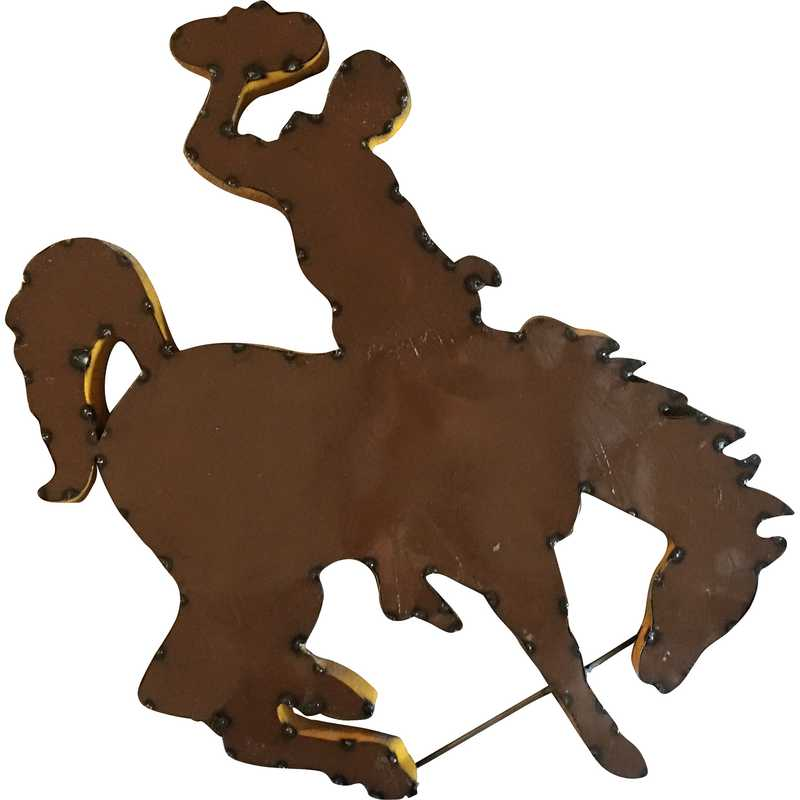 WYOHRSWD: Wyoming Horse recycled metal wall décor