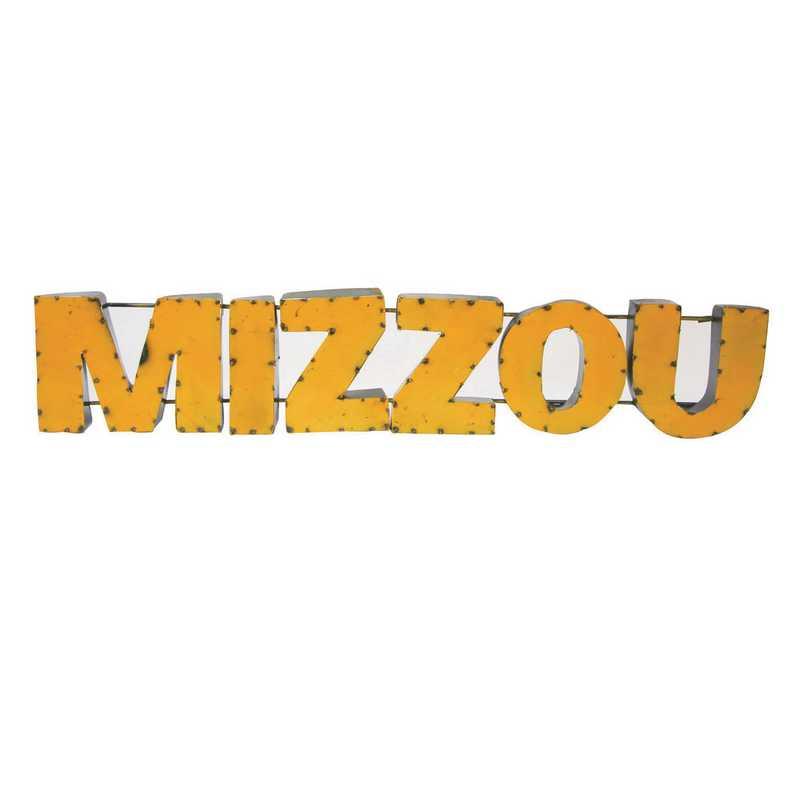 MIZZOUYLWD: LRT MO Mizzou Yellow Metal Décor