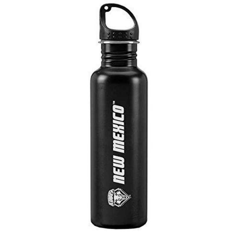 Black 24-ounce Sport Water Bottle University of New Mexico