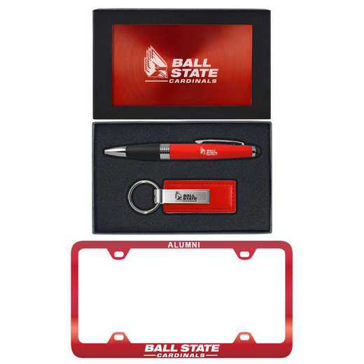 SET-A3-BALLST-RED: LXG Set A3 pen KC Tag, Ball State