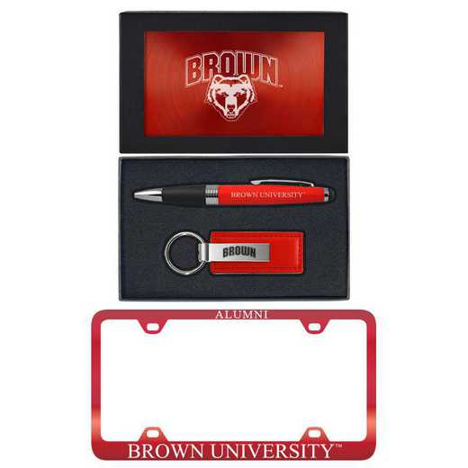 SET-A3-BROWN-RED: LXG Set A3 pen KC Tag, Brown
