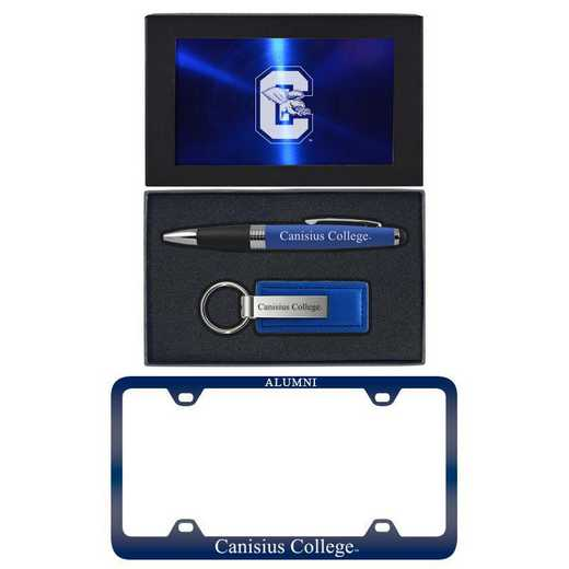 SET-A3-CANISUS-BLU: LXG Set A3 pen KC Tag, Canisius