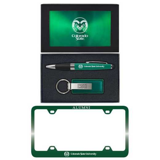 SET-A3-CSU-GRN: LXG Set A3 pen KC Tag, Colorado State