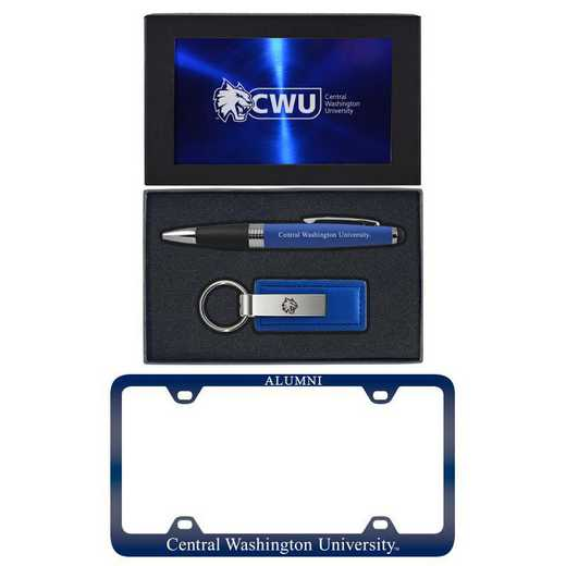 SET-A3-CWU-BLU: LXG Set A3 pen KC Tag, Central Washington