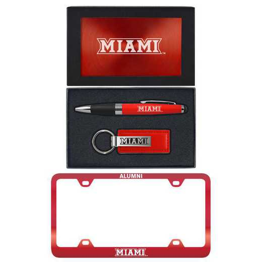 SET-A3-MIAMIU-RED: LXG Set A3 pen KC Tag, Miami