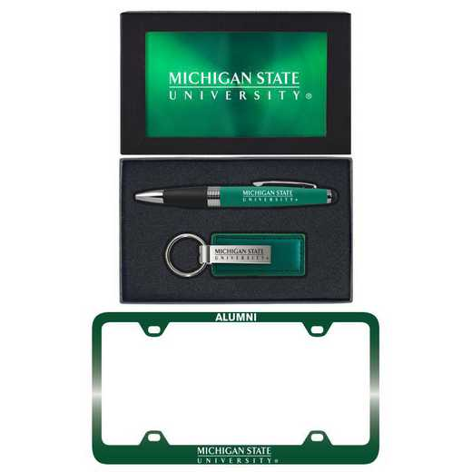 SET-A3-MICHST-GRN: LXG Set A3 pen KC Tag, Michigan State