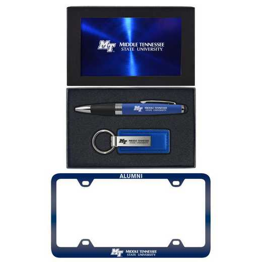 SET-A3-MTSU-BLU: LXG Set A3 pen KC Tag, Middle Tennessee State
