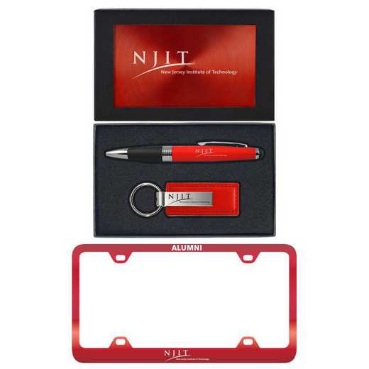 SET-A3-NEWJERI-RED: LXG Set A3 pen KC Tag, New Jersey Tech