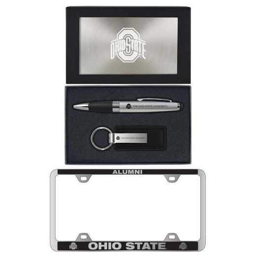 SET-A3-OHIOST-SIL: LXG Set A3 pen KC Tag, Ohio State