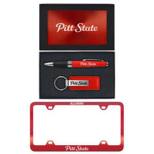 SET-A3-PITTST-RED: LXG Set A3 pen KC Tag, Pittsburgh State