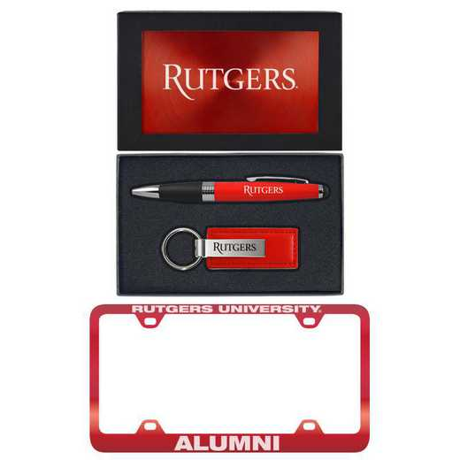 SET-A3-RUTGERS-RED: LXG Set A3 pen KC Tag, Rutgers