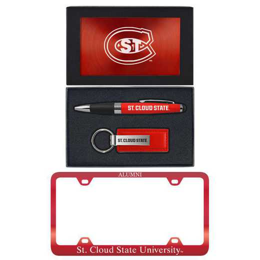SET-A3-STCLDST-RED: LXG Set A3 pen KC Tag, St Cloud State