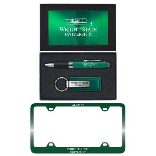 SET-A3-WRGHST-GRN: LXG Set A3 pen KC Tag, Wright State