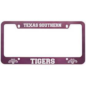 Texas Southern University Metal License Plate Frame Pink