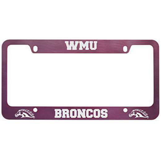 SM-31-PNK-WESTMICH-1-LRG: LXG SM/31 CAR FRAME PINK, Western Michigan