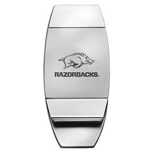1145-ARKNSAS-RL1-CLC: LXG MONEY CLIP, Arkansas