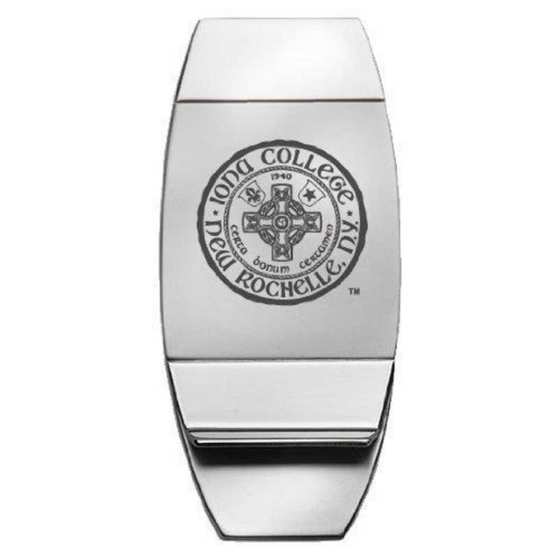 1145-IONA-L1-LRG: LXG MONEY CLIP, Iona College