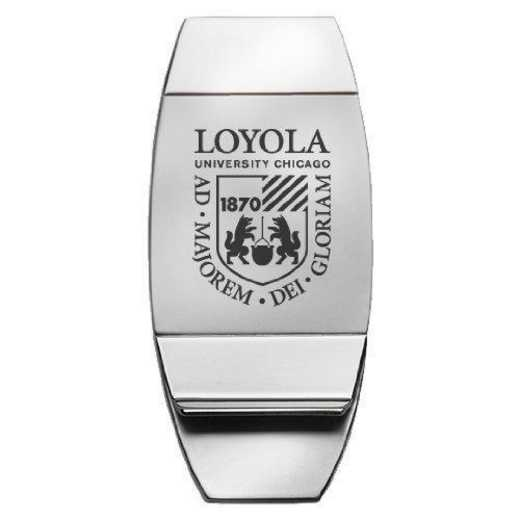 1145-LYOLACHIC-L1-LRG: LXG MONEY CLIP, Loyola Univ Chicago