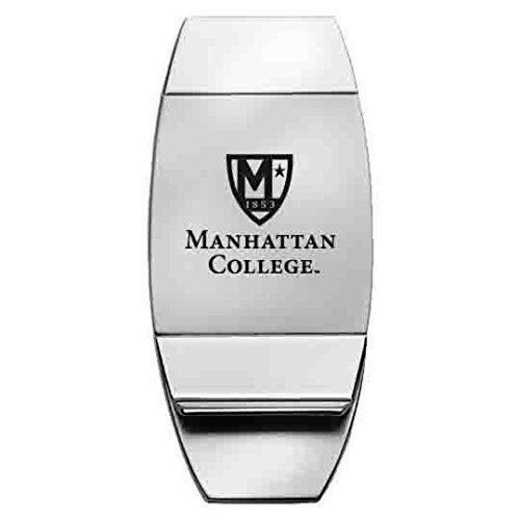 1145-MANHATTAN-L1-SMA: LXG MONEY CLIP, Manhattan College