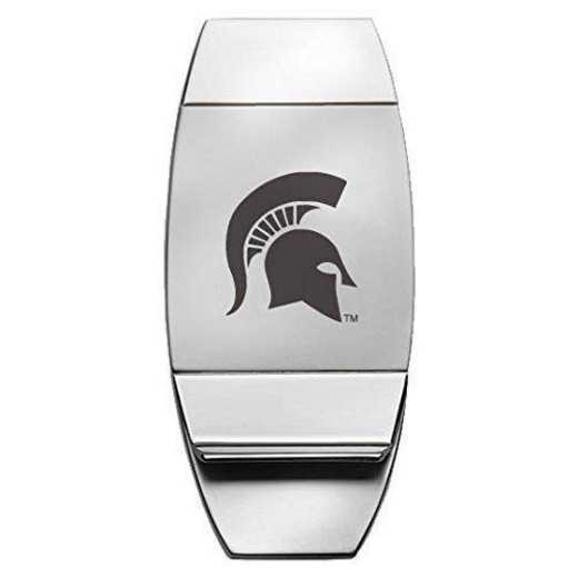 1145-MICHST-L1-IND: LXG MONEY CLIP, Michigan State