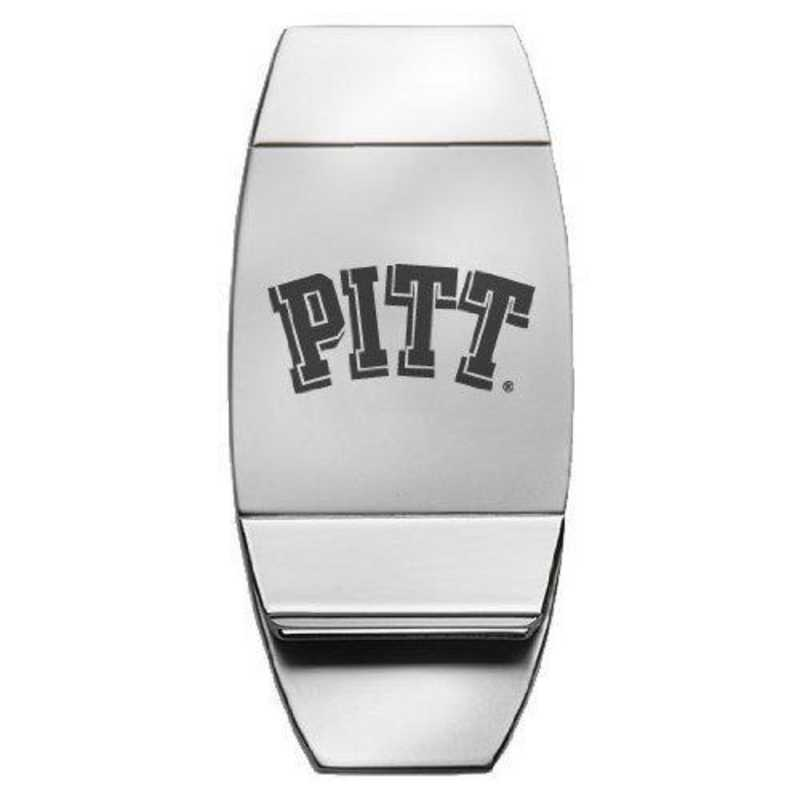 Two-Toned Money Clip Inc University of Pittsburgh Silver LXG