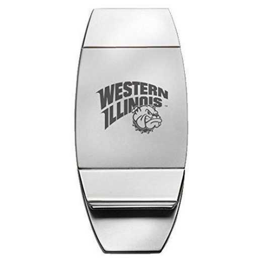 1145-WESTIL-L1-LRG: LXG MONEY CLIP, Western Illinois
