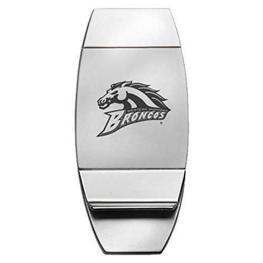 1145-WESTMICH-L1-LRG: LXG MONEY CLIP, Western Michigan